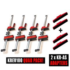 Bessey 4 x K Body REVO KREV100 / 2 x Tilting K Body adapter Sets