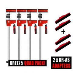 Bessey 4 x K Body REVO KRE125 / 2 x Tilting K Body adapter Sets