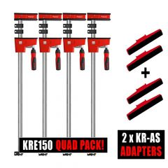 Bessey 4 x K Body REVO KRE150 / 2 x Tilting K Body adapter Sets