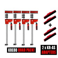 Bessey 4 x K Body REVO KRE80 / 2 x Tilting K Body adapter Sets