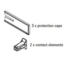 Bessey KBODY 3 x protection caps, 2 x protection, 1 x end clip