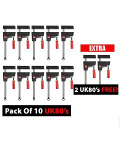 Bessey UniKlamp - UK80 800/80 MEGA Deal 10 Pack Plus 2 FREE