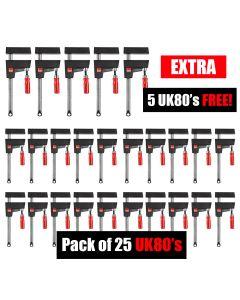 Bessey UniKlamp - UK80 800/80 BENCH BUSTER 20 Pack Plus 5 FREE