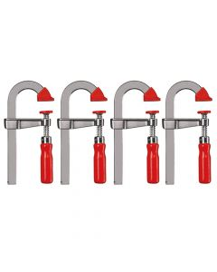 Bessey Light duty bar clamp U-style LMU 100/50 Quad Pack 4 Clamps