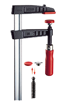 Bessey Original BESSEY Malleable Cast Iron Screw Clamp TG with Tried‐&‐True Wooden Handle